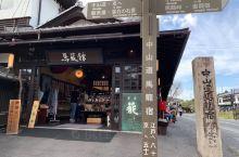 中山道马龙宿,这里保留了日本当年的水车和水库,一条石头砌成的下坡路,配上周围古朴的村落,让人有种穿越