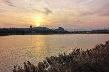 洪洞汾河夕阳