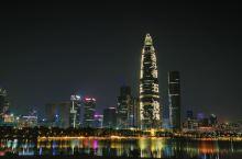深圳湾人才公园,夜景很赞!