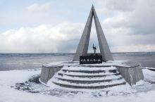 二月初的日本最北点,冷!气温不低,但是风很大!