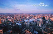 费城自由观景台,高269米,下午6:00登上观景台,整个费城360度无死角呈现在面前,再加上夕阳西下