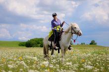 #遇见野花盛开的草原  有些风景大巴车看不到 有些风景越野车也看不到 有些风景只有马背上才能体会