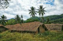 """白查村,海南东方的一个自然村,村里的茅草屋犹如一艘艘倒扣的船,长而阔,茅檐低矮,村民习惯称之为""""船形"""
