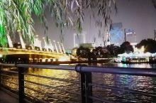 夜游京杭大运河  没有去游船 步行在河边