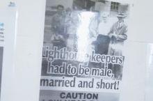 以前的灯塔守护人必须是男,已婚,身高偏矮!