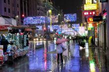 雨中的马德里大街