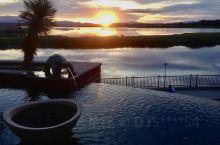 拉斯维加斯湖畔酒店的美景。