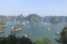 下龙湾,位于越南北方广宁省的一个海湾,风光秀丽迷人,闻名遐迩。我们坐了游船游览了整个下龙湾,上面有很