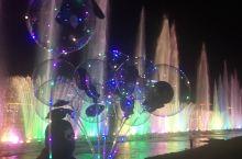 松花江畔的音乐喷泉