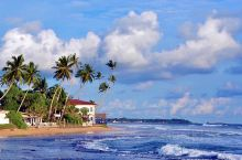 斯里兰卡、印度洋上的美丽小岛,南部海边的美蕊沙、月牙儿般的弧形海滩,阳光照耀下的金色沙滩、出海观鲸最