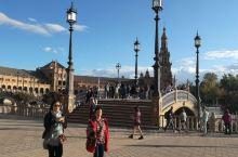 塞维利亚的西班牙广场,不愧为颜值爆表