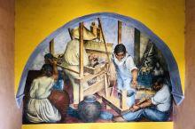 #壁画# 墨西哥原来是壁画王国!果然不虚此名,到处都是!