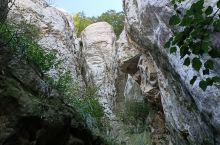 """在河南少林寺三皇寨深处,有一奇特地貌""""象鼻石""""。象鼻石的外形好像大象的鼻子,故名""""象鼻""""。其主要成份"""
