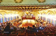 加泰罗尼亚音乐宫 大年初一(西班牙时间)的晚上去听了一场新年音乐会,正值中国新年,非常应景。  推荐