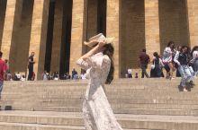 土耳其🇹🇷国父陵の避开人群的拍照大法📷 这个地方不可能有人少的时候🤷🏻♀️ 高级的建筑🏛和蓝蓝的天