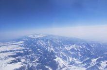 飞机下的雪景!