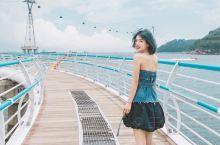 """""""釜山天空游轮""""—松岛的天空栈道和玻璃缆车 海水浴场 釜山最早开放的海水浴场就是松岛海水浴场,松岛海"""