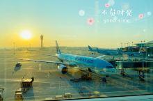仁川机场的日出真的是超级美腻的.