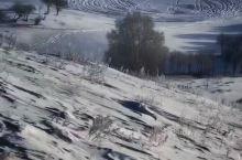 冰雪覆盖的透风沟
