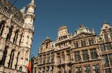 布鲁塞尔大广场,欧式建筑风格。