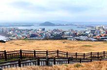济州岛之行景观篇(三)——城山日出峰,两条路可选,右走上山需要门票,左走下海可到海女之家吃海鲜看海女