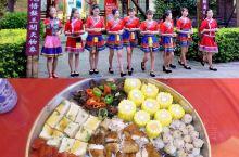 """湟川龙潭,赴一场瑶王宴。「龙潭瑶王长寿大盆菜」,把瑶族的""""十八酿""""和连州美食相结合,成为了特色大盆"""