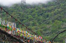 墨脱德兴特有的藤网桥,不是建造在普通的江河上,而是建在雅鲁藏布江大峡谷的地段上,横跨于雅鲁藏布江上空