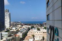 远眺地中海,雅法港。