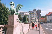 龙之城卢布尔雅那 下午约1:30到达斯洛文尼亚首都卢布尔雅那。如果说萨格勒布大气一些,卢布尔雅那则更