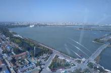 山东聊城水城明珠摩天轮上鸟瞰东昌古城
