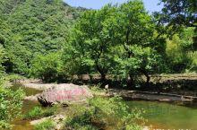 2020.6.1自驾游玩泾县水墨汀溪风景区 有山有水 溪流湍急 两岸树木郁郁葱葱 沿着溪边步道逆流而