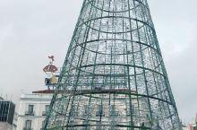 白天的SOL 广场的圣诞树