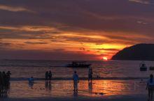 珍南海滩日落,很美!