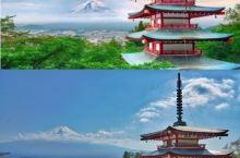 日本旅行|推荐拍富士山NO.1的机位,宫崎骏同款富士山经典拍摄地 宫崎骏动画里的红色六重塔,呼应远处