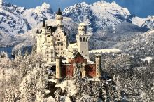 """世界上最美的城堡德国慕尼黑天鹅堡The Swan stone castle 拥有""""梦幻城堡""""之称的新"""