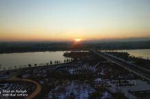 夕阳下的扎萨克图公园,如此安静