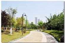 噢这个地方很漂亮吧,这里呢是我们赣州新开的一个体育公园,赣州呢,新开的这个体育公园呢,反正还是蛮大的