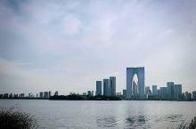 六月在苏州工业园的金鸡湖边,与老同学一叙同窗之谊。远处苏州中心和东方之门的宏伟、近旁文化艺术中心的现