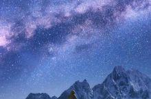避开城市光源,去山岙里看银河。