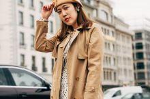 瑞士旅行|旅拍小技巧,几招轻松学 这一季,暖驼色比焦糖色更百搭,同色系的风衣礼帽包包搭配淡色系的内衬