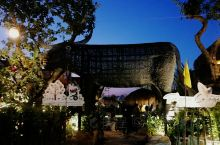 这是jungle de cafe 的第三家店,整体设计延续了前两家的风格,建在了木雕小镇附近的稻田里