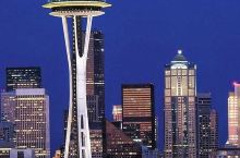#旅行学英语# 西雅图地标太空针Space Needle. 针塔高184米,建于1961年,为196