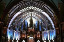 蒙特利尔———诺特丹圣母大教堂 建于1829年的诺特丹圣母大教堂,也是北美最大的教堂。气势恢宏的大教