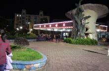 泰顺华鸿中央广场游乐场,晚上还有喷泉
