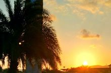 夕阳西下亚龙湾