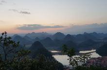 观音洞山顶上看日落