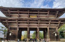 东大寺木制前门雄伟壮观