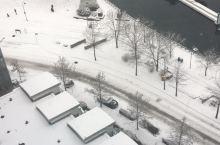 冬天的温哥华,白雪茫茫,大概有几十厘米厚,grouse mountain更是滑雪胜地