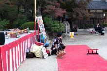 香岚溪边的传统耍猴表演,去的时候红叶还没有,幸好有日式传统耍猴表演可以看看。