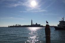 意大利著名水城威尼斯,落日余晖